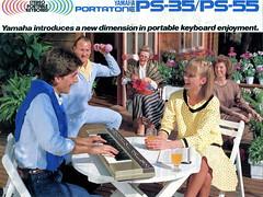 Yamaha Portatone PS-35 / PS-55 brochure (1983)