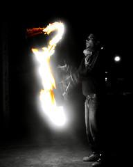 (Ciudadano Poeta) Tags: portrait white black game art cutout liberty fire libertad freedom play dragon arte flames trick juggling malabarismo antorchas