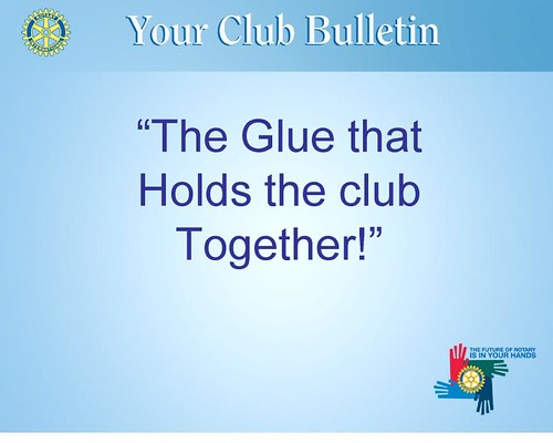 Club Bulletin Seminar October 2009