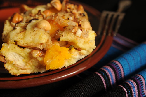 Butternut Squash and Sage Savory Bread Pudding