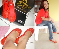 cheguei de ssa! (Pri Melissas ♥) Tags: love look coral pirates laranja melissa