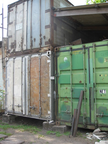 shipping containers become storage containers