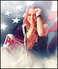 # Miley Cyrus - Party in the U.S.A. (samuelpera) Tags: party music usa photoshop studio song sing cyrus samuel blend montagem editions miley cantora edio photofiltre pra