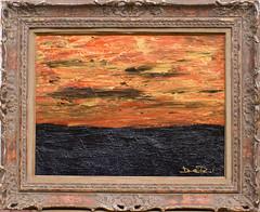 solitudine della sera (daniele pennazzi) Tags: blue sea sky abstract black color water painting gold tramonto mare blu picture quadro cielo romantic acqua azzurro sera acrilic solitudine dipinto