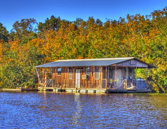 Ouachita River Houseboat (finchlake2000) Tags: camping autumn trees lake color tree fall nature water colors parish canon river landscape eos rebel landscapes boat duck fishing louisiana wildlife union alabama houseboat landing upper finch national swamp monroe cypress willie intimate hdr silas dynasty commander ouachita refuge jase robertson cypresstree phill nwr photomatix jeptha finchlake unionparish t1i canont1i dailynaturetnc09 upperouachitanwr upperouachita photocontesttnc10