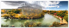 Wide Autumn (I) (1Ehsan) Tags: autumn panorama orange fall yellow iran esfahan isfahan zayanderood zayandehrood