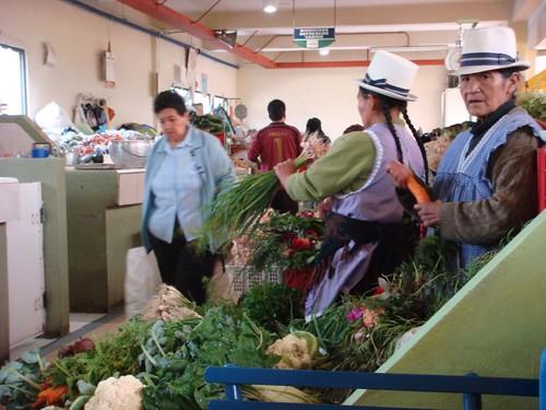Cuenca main market...