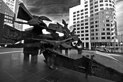 Sculpture (Kleiobird) Tags: sculpture geotagged blackwhite rotterdam zwartwit sculptuur weena sigma102045 geo:lon=4474102 geo:lat=51924096