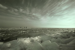 (sole) Tags: winter cold holland ice water netherlands photography europe north nederland marken ijsselmeer solea digitalcameraclub 100commentgroup watschape