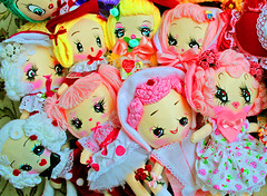 Little Lovies (boopsie.daisy) Tags: pink girls red holiday vintage dolls day sweet handmade inspired adorable kitsch plush homemade precious daisy valentines boopsiedaisy boopsue