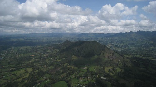 Approaching Medellin´s international airport