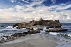 ...solitary beach... (zio paperino) Tags: sea sky italy beach nature clouds geotagged nikon europe natura calabria d90 ziopaperino mygearandme mygearandmepremium mygearandmesilver mygearandmegold