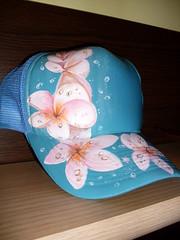 "Detalle gorra "" Exotic Flowers"" (Nayade Art) Tags: caps custom nayade"