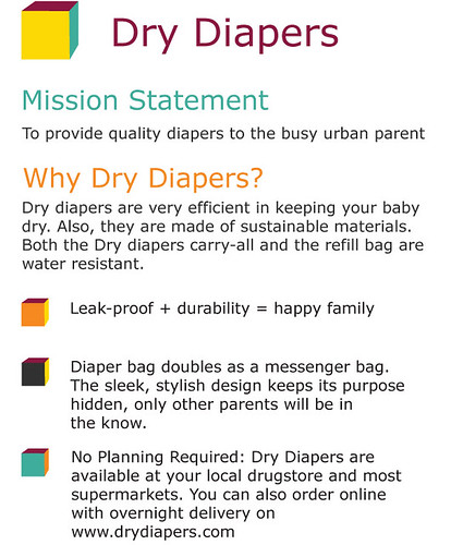 Dry Diapers | Client Presentation 1