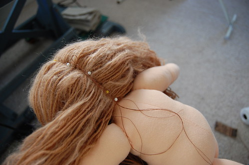 sewing on hair