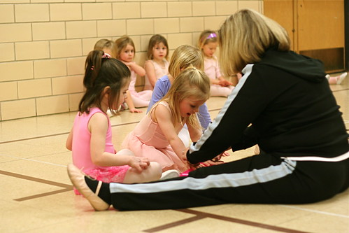 Receiving Stamps at end of Dance Class