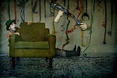 victims of the carnival (Michele Leccese- Aka *mklex) Tags: carnival muro guanti victim mani concept conceptual carnevale colori piedi viso bicchiere cappello calze coriandoli poltrona bottiglia mklex micheleleccese