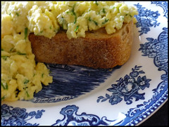 Scrambled eggs.