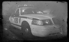 nypd (Michael Malthe Photography) Tags: new york blackandwhite bw blackwhite tv olympus zuiko e500 sorthvid sortoghvid oldtelevisionnynyny ususalayerpsphotoshopamericastreetshotstreetnostalgic