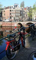Bridge and canal houses by drooderfiets