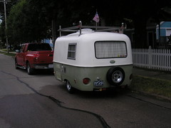 Boler at home on the street (Marty Smiltneek) Tags: travel trailer boler