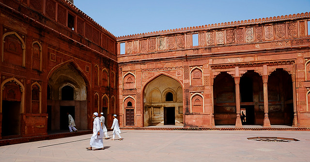 Group of Men in Agra Fort