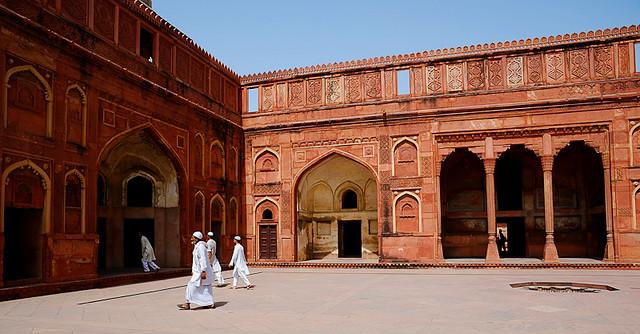 Group of Men in Agra Fort