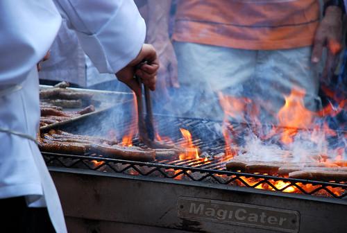 grilled merguez sausage @ Bastille Day fest...