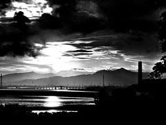 View From The Hill (Barrie Caveman) Tags: sunset sun night clouds scotland mud dusk scottish tidal boness silt firthofforth grangemouth riverforth ochilhills kincardinebridge centralscotland hillfoots forthvalley borrowstounness longannetpowerstation