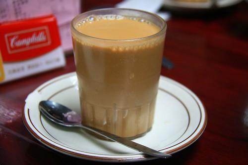 你拍攝的 中環 Central - 蘭芳園 絲襪奶茶。
