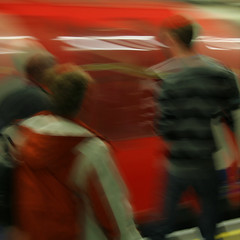 arriving (mypixbox) Tags: uk red blur london boys station train underground tube arrival squared arriving mg9424