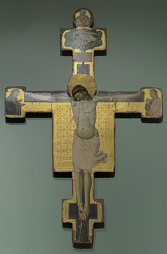 "Tempera and gold leaf on panel, ""Crucifixion"", Italian, mid-14th century, at the Saint Louis Art Museum, in Saint Louis, Missouri, USA"