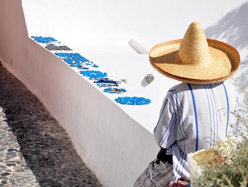 Blue-bead seller