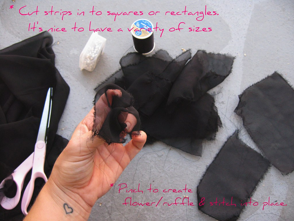 DIY Petal Ruffle Puff Sleeve Top