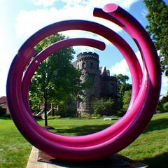 John Clement Art Prize Sculptureat Castle 8-12-09 2 (stevendepolo) Tags: street sculpture castle art metal m