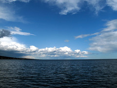Lake Superior (kevinthoule) Tags: blue sky lake nature water minnesota clouds mn duluth lakesuperior