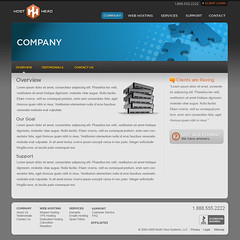 Host Head - Company page (Cristian Bosch) Tags: webdesign templates mockups designcomps webcomps