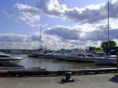 boats in Gimli (kathilee.c) Tags: sky clouds boats dock fishingboats icelandicfestival