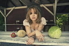 marketgirl (yyellowbird) Tags: girl vegetables hat market beast cari