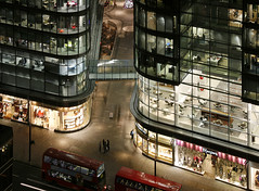 London Victoria - Cardinal Place (david.bank (www.david-bank.com)) Tags: uk england london public glass architecture modern night hub for place cardinal transport victoria busses tfl