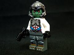Grrr.. (Chaotic Good01) Tags: head alien fine troll fi decals sci brickarms clonier kamonian