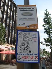 Wahlplakate: Piratenpartei, Soziale Liste