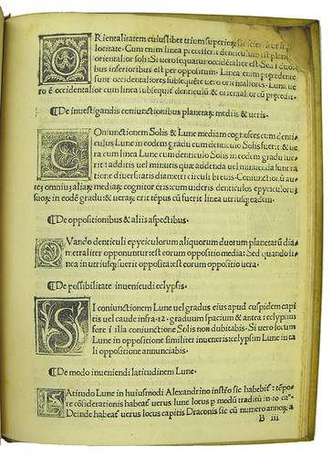 Woodcut initials in Alphonsus de Corduba: Lumen Caeli
