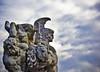 ... Gloria Mundi (Diaaavelo) Tags: city bridge light sky italy sculpture rome roma art monument clouds italia ponte turchese pontevittorioemanueleii centurione cieloromano
