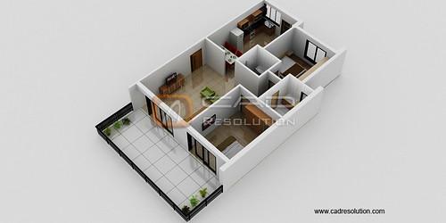 Floor Plan Rendering Design - 3D Images for Floorplan