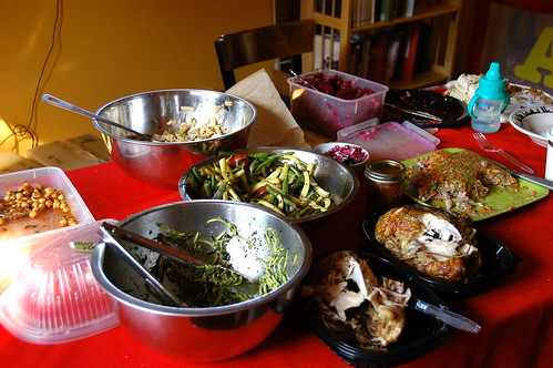 some of the food spread