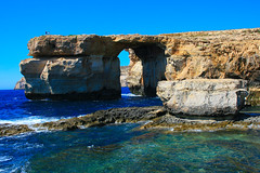 La finestra azzurra / Azure window (AndreaPucci) Tags: sea stone rocks day mare arc malta clear pietra arco gozo scogli azurewindow canoneos400 canonefs1855mm3556 finestraazzurra andreapucci