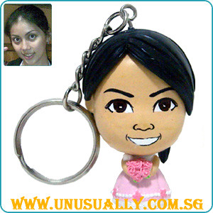 Custom Caricature Key Chain Female Wedding Doll