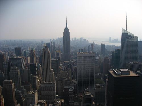 Vue sur l'Empire State depuis la Rockfeller Tower