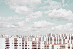 individualism (deNNis-grafiX.com) Tags: city sky urban berlin skyline architecture clouds skyscraper cityscape himmel wolken highrise architektur neuklln gropius hochhuser gropiusstadt stadtlandschaft wohnblcke gettyimagesgermanyq1